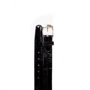Belvedere Eel Belt Black Image