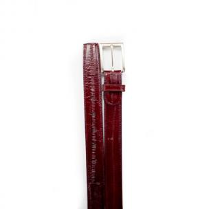 Belvedere Eel Belt Scarlet Red Image