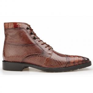 Belvedere Giuseppe Crocodile & Lizard Boots Antique Peanut Image