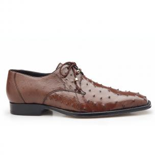 Belvedere Isola Ostrich Quill Dress Shoes Brown Image