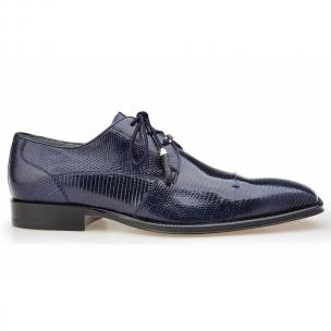 Belvedere Karmelo Lizard Cap Toe Shoes Navy Image