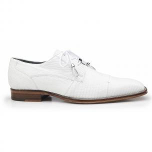 Belvedere Karmelo Lizard Cap Toe Shoes White Image