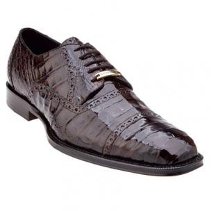 Belvedere Marcello Crocodile Cap Toe Brogues Brown Image