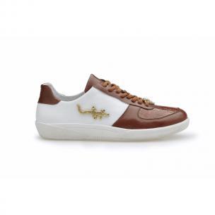 Belvedere Mario Crocodile & Calfskin Sneakers Honey / White Image