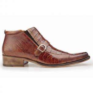 Belvedere Matteo Ostrich & Crocodile Boots Antique Camel Image