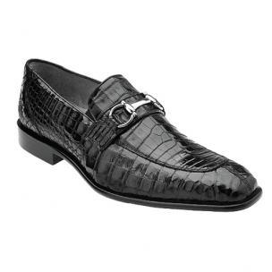 Belvedere Mercuri Crocodile Bit Loafers Black Image