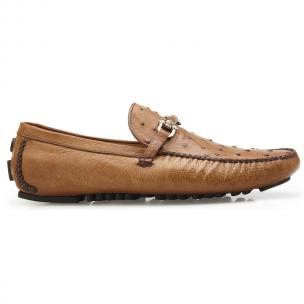 Belvedere Omar Ostrich Quill Bit Loafers Brandy Image