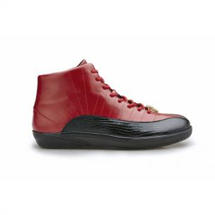 Belvedere Oratio Lizard & Calfskin Sneakers Black / Red Image