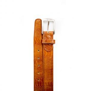 Belvedere Ostrich Leg Belt Antique Camel Image