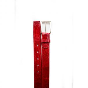 Belvedere Ostrich Leg Belt Antique Red Image