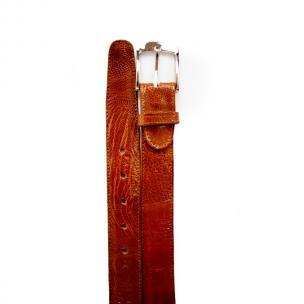 Belvedere Ostrich Leg Belt Brandy Image