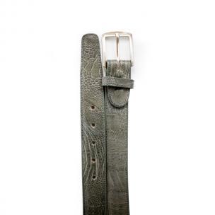 Belvedere Ostrich Leg Belt Gray Image