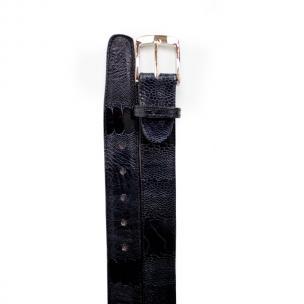 Belvedere Ostrich Leg Belt Navy Image