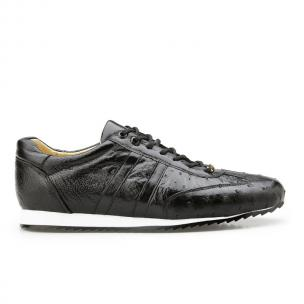 Belvedere Parker Ostrich Quill Sneakers Black Image
