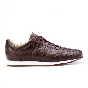 Belvedere Parker Ostrich Quill Sneakers Dark Burgundy Image
