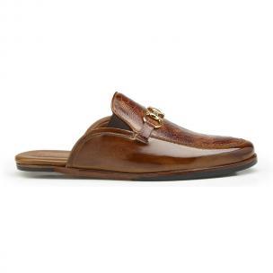 Belvedere Ray Ostrich Leg & Calfskin Sandals Brandy / Antique Brown Image