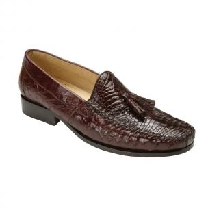 Belvedere  Bari Caimain & Ostrich Tassel Loafers Brown Image