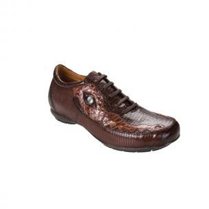 Belvedere Corona Lizard & Caiman Sneakers Dark Brown/Brown Image