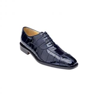 Belvedere Mare Ostrich/Eel Shoes Navy Image