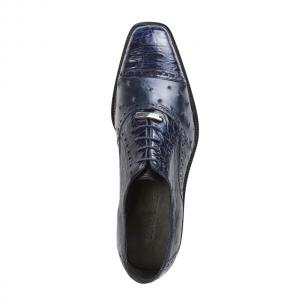 Belvedere Onesto II Ostrich/Crocodile Shoes Navy Image