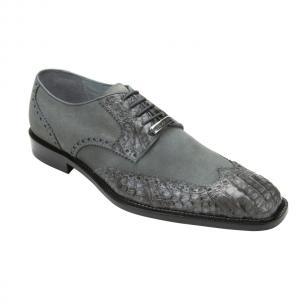 Belvedere Pergola Crocodile/Suede Shoes Gray Image