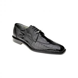 Belvedere Siena Ostrich Lace Up Shoes Black Image