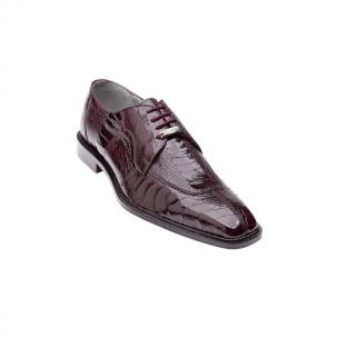 Belvedere Siena Ostrich Lace Up Shoes Burgundy Image
