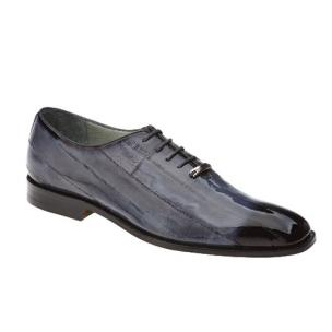 Belvedere Stella Eel Lace Up Shoes Antique Gray Image