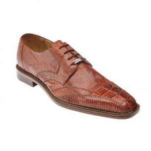 Belvedere Topo Hornback & Lizard Shoes Cognac Image