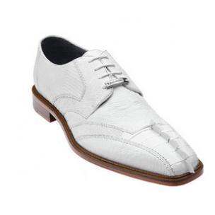 Belvedere Topo Hornback & Lizard Shoes White Image