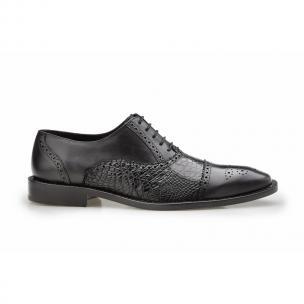 Belvedere Torino Alligator & Calfskin Oxfords Black Image