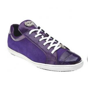 Belvedere Toro Crocodile & Soft Calfskin Sneakers Purple Image