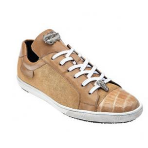 Belvedere Toro Crocodile & Soft Calfskin Sneakers Taupe Image
