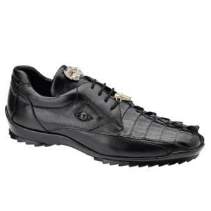Belvedere Vasco Hornback & Calfskin Sneakers Black Image
