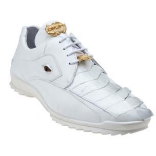 Belvedere Vasco Hornback & Calfskin Sneakers White Image