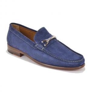 Bruno Magli Bice Suede Bit Loafers Navy Image