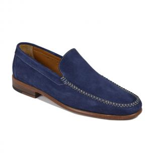 Bruno Magli Boka Suede Loafers Navy Image