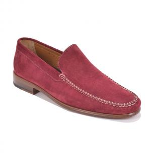 Bruno Magli Boca Suede Loafers Red Image