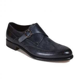 Bruno Magli Collezione Adalardo Monk Strap Shoes Dark Gray Image