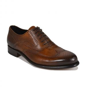 Bruno Magli Collezione Adamo Goodywear Welted Wingtip Shoes Cognac Image
