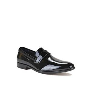 Bruno Magli Collezione Carlos Patent Leather Loafers Black Image