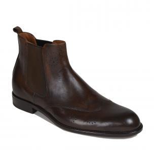 Bruno Magli Filipo Wingtip Boots Dark Brown Image