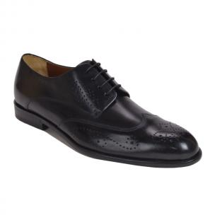 Bruno Magli Collezione Franco Blake Welted Wingtip Shoes Black Image
