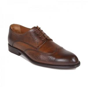 Bruno Magli Collezione Franco Blake Welted Wingtip Shoes Cognac Image