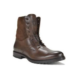 Bruno Magli Collezione Lotto Cordovan/Shearling Boots Dark Brown Image