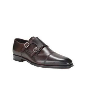 Bruno Magli Collezione Yarlot Monk Strap Shoes Bordo Image