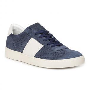 Bruno Magli Dario Suede Sneakers Navy Image