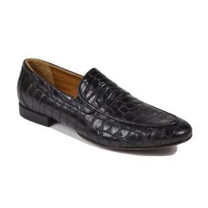 Bruno Magli Londra Croc Print Loafers Black Image