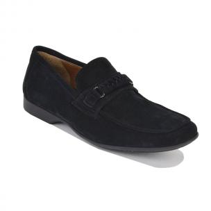 Bruno Magli Lorenzo Suede Casual Loafers Black Image
