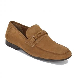 Bruno Magli Lorenzo Suede Casual Loafers Whiskey Image